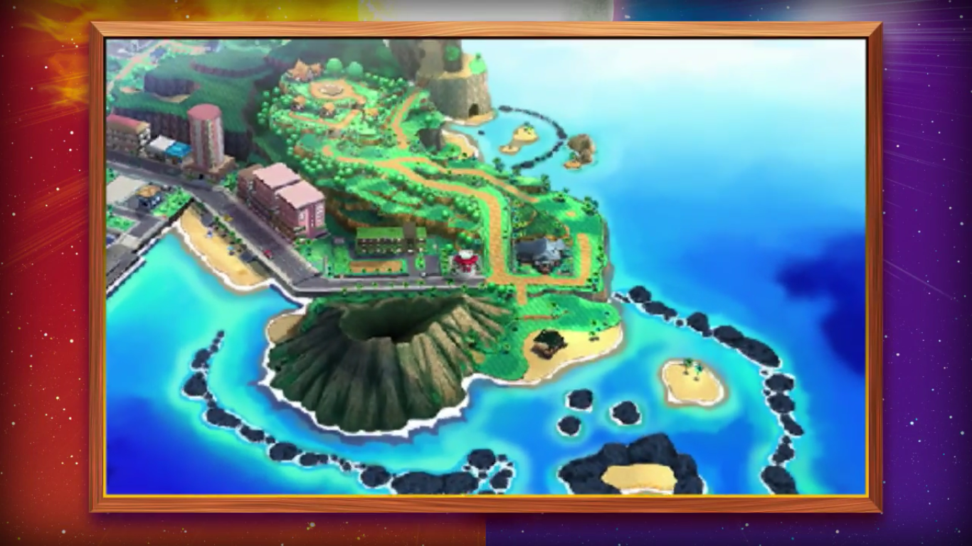 Pokemon sun and moon map volcano fire region