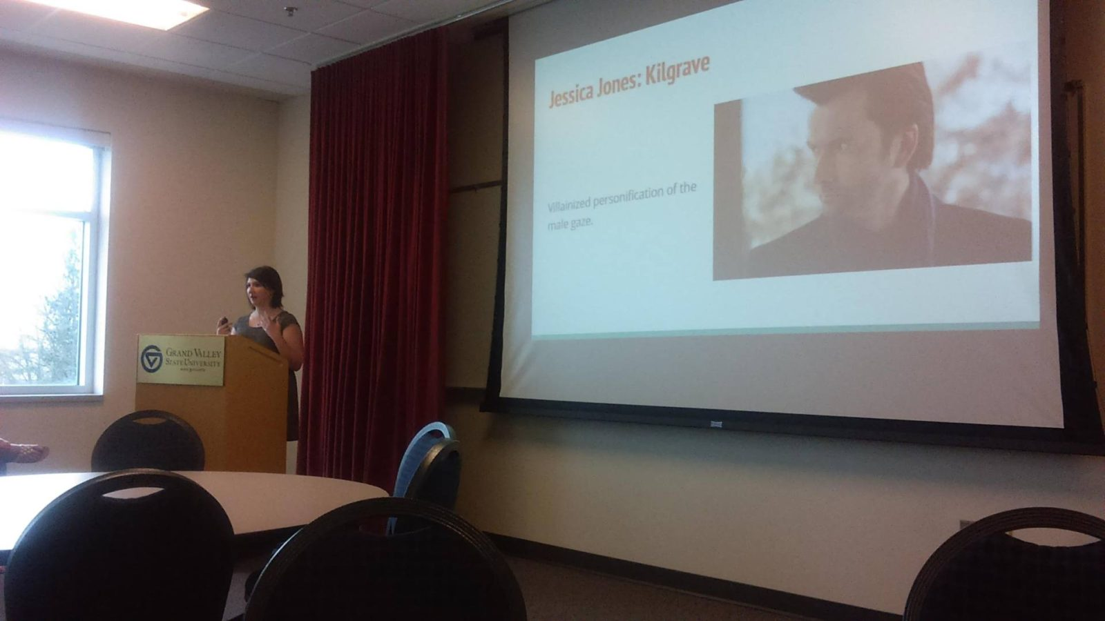 katsyxo gvsu capstone presentation male gaze jessica jones david tennant