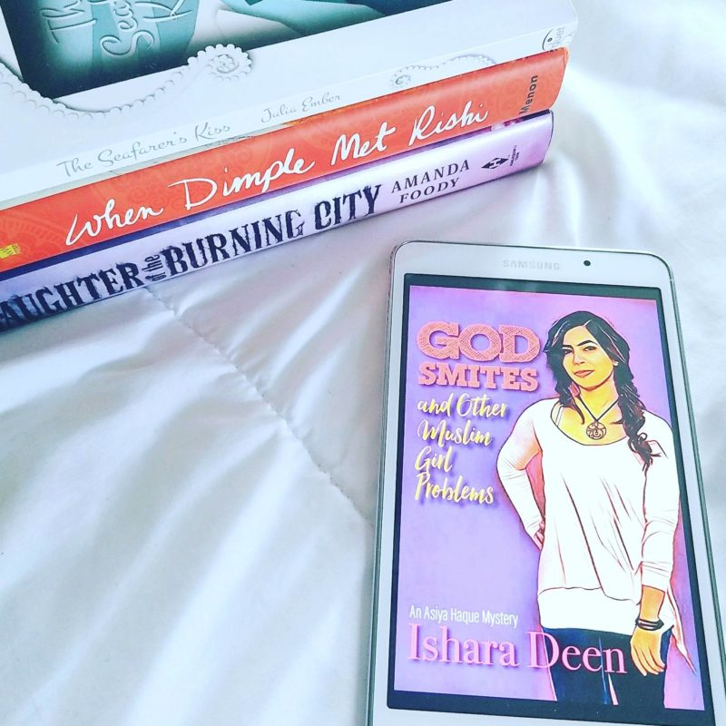 Book Reviews: The Seafarer's Kiss, God Smites and Other Muslim Girl Problems, When Dimple Met Rishi, Daughter of the Burning City