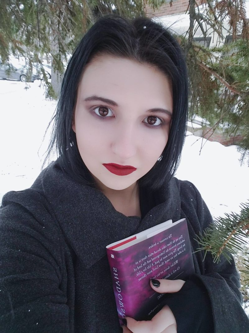 Shadowsong book review book cover inspired makeup